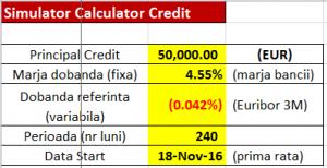 simulator calculator credite scadentar excel
