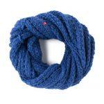 Fular circular albastru persan Raul