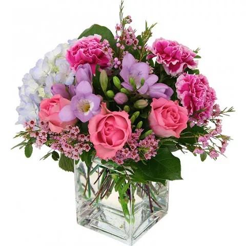 Aranjament vaza cu 15 flori