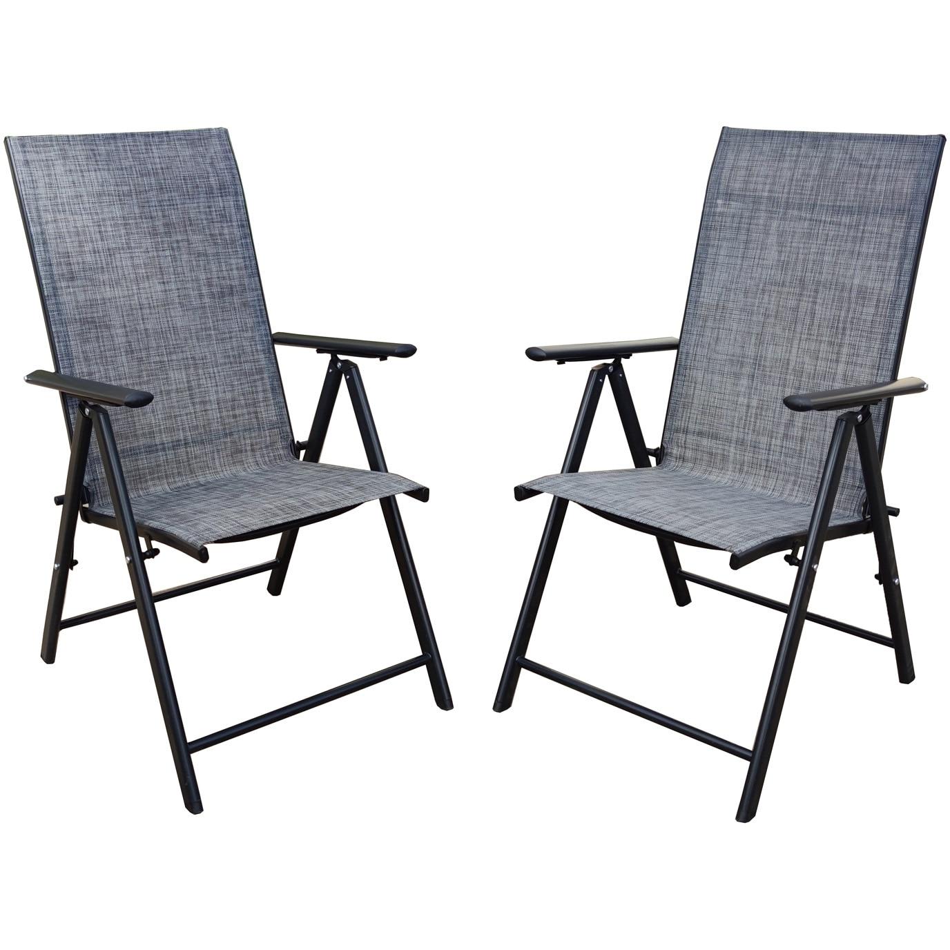 Set 2 Scaune gradina/terasa/balcon pliabile Kring Bie metal, 69 x 55 x 102 cm, reglabil 7 pozitii, c