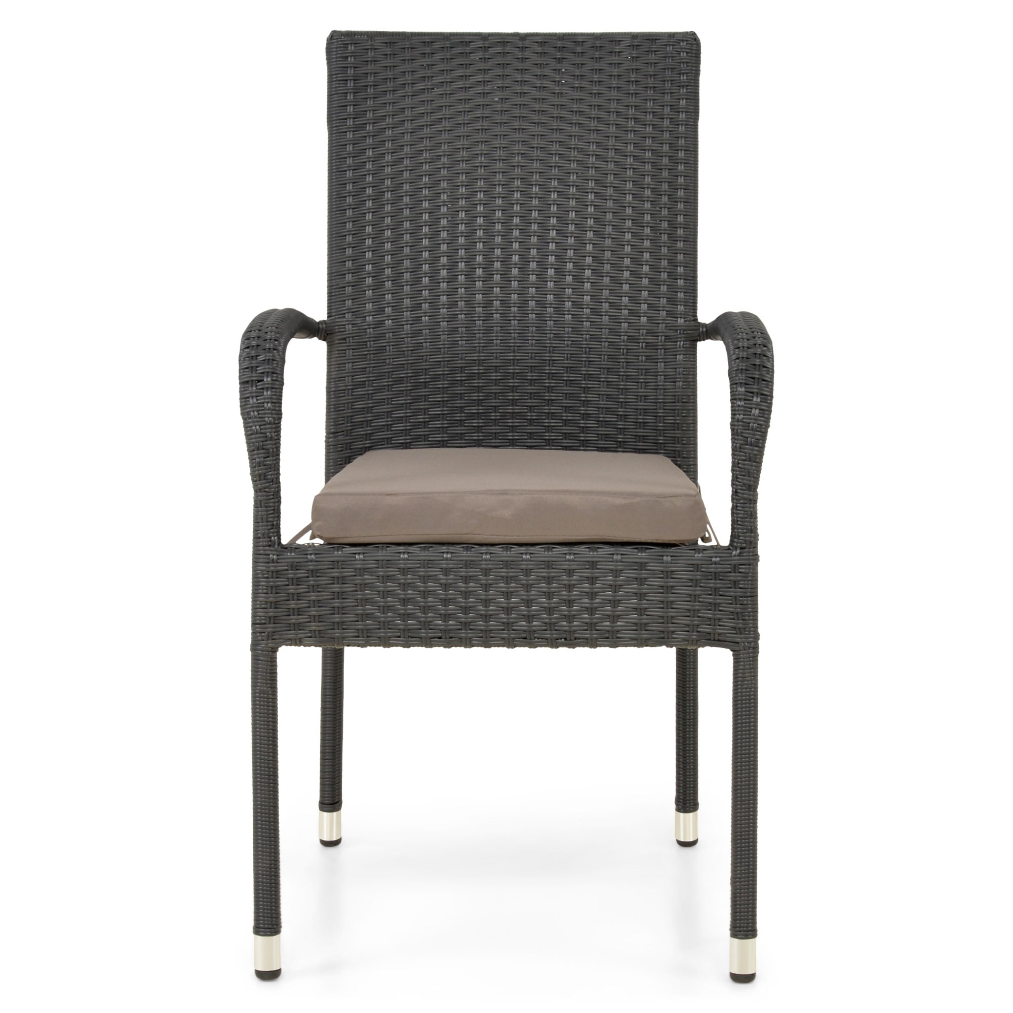 Scaun gradina/terasa PRESLEY 55.5x63x95 negru/gri