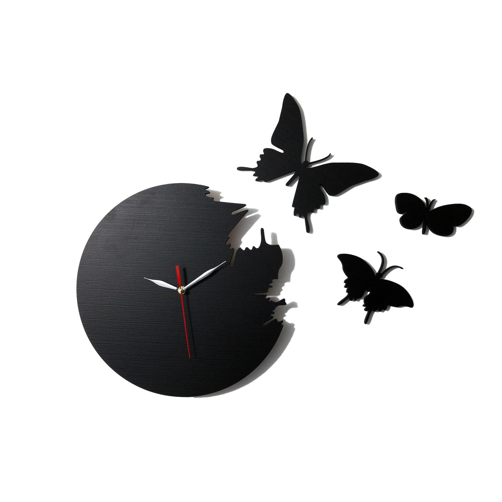 de perete cu fluturi exteriori Negru 28 cm