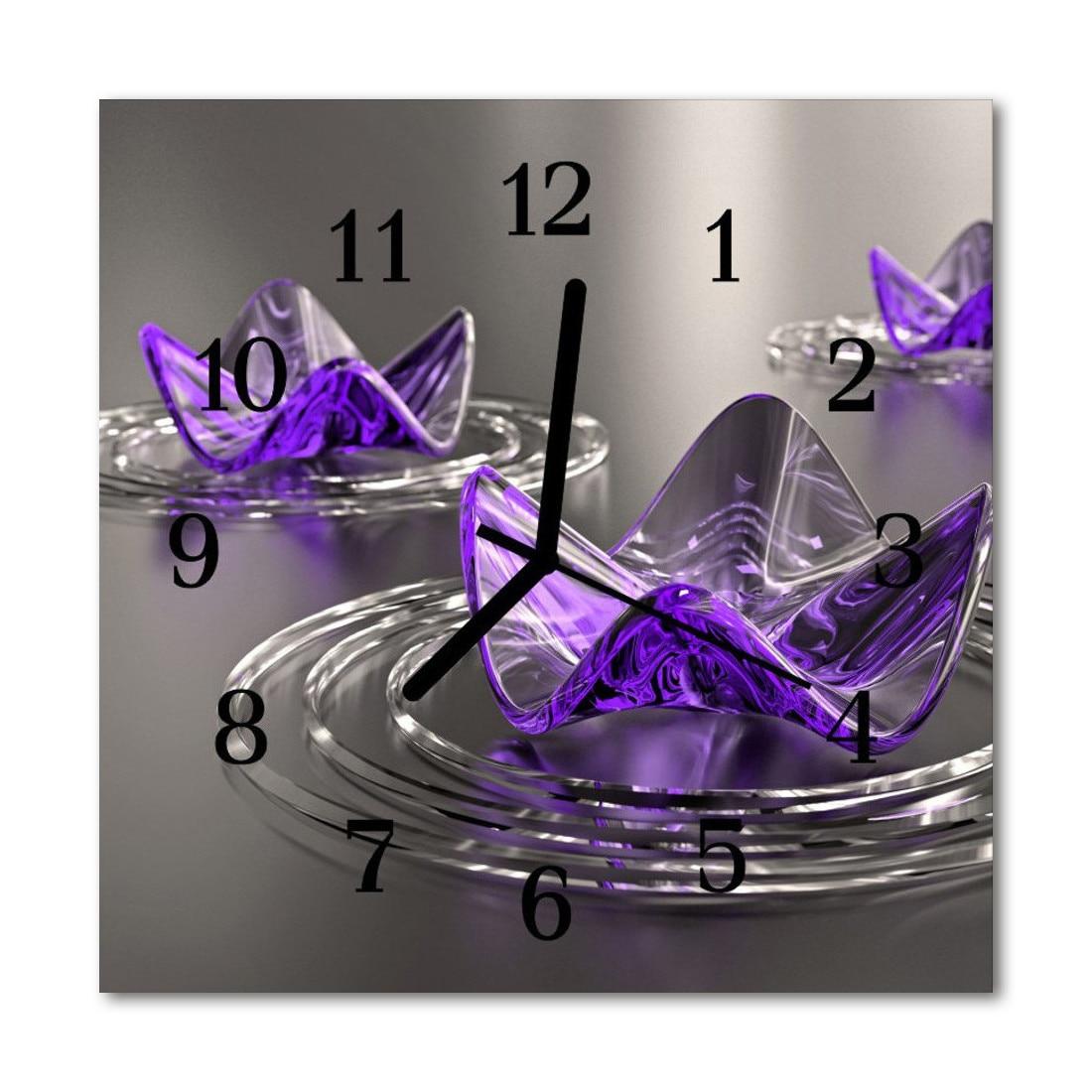 de perete din sticla, Tulup, Glass flowers 31931839, 30 cm, Multicolor