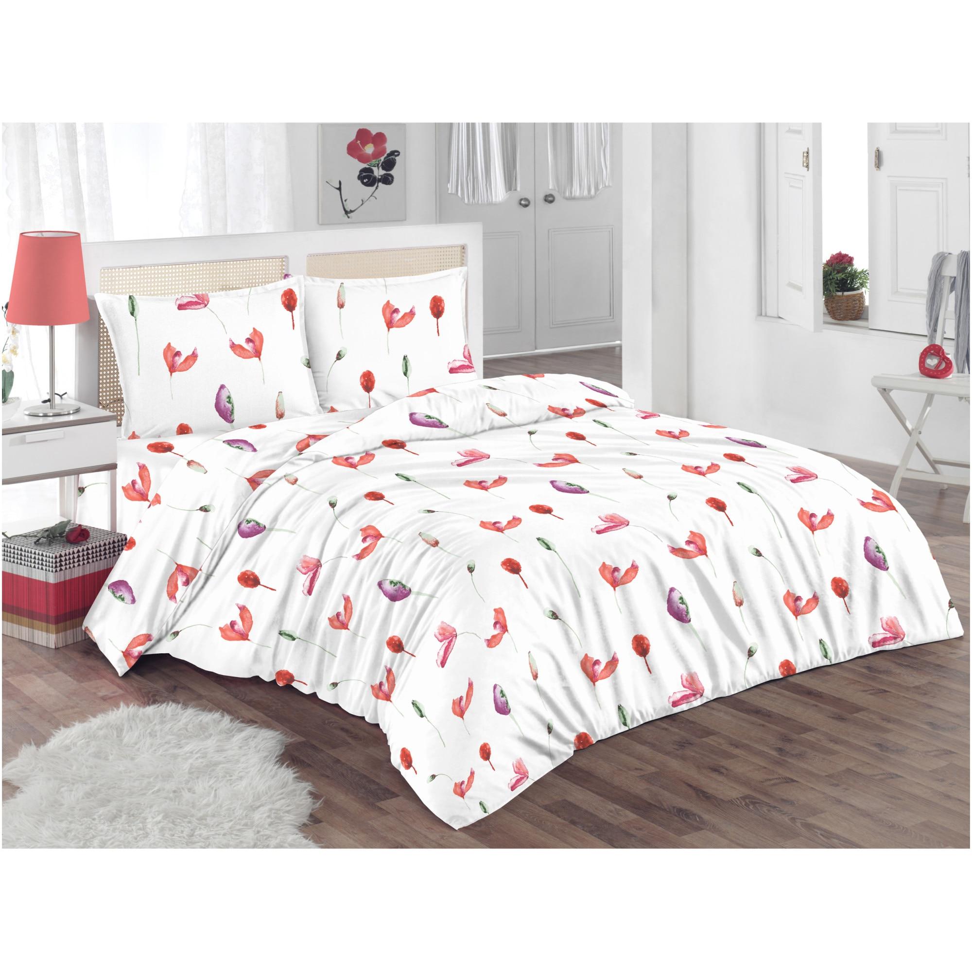 Lenjerie de pat pentru doua persoane Kring Poppy
