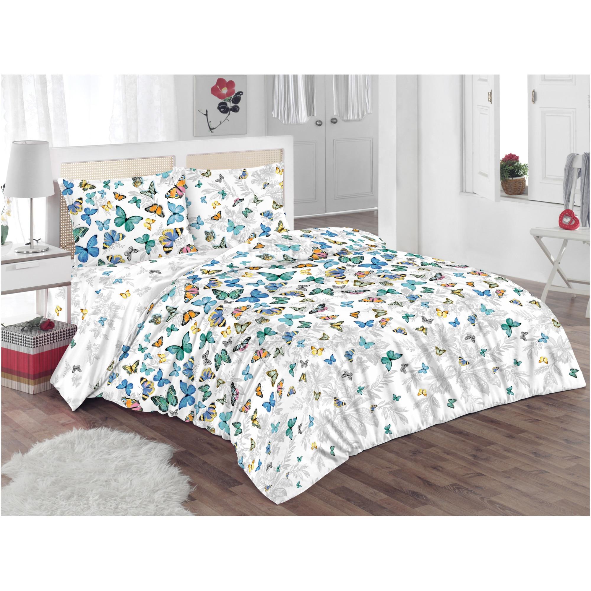 Lenjerie de pat pentru doua persoane Kring Butterflies