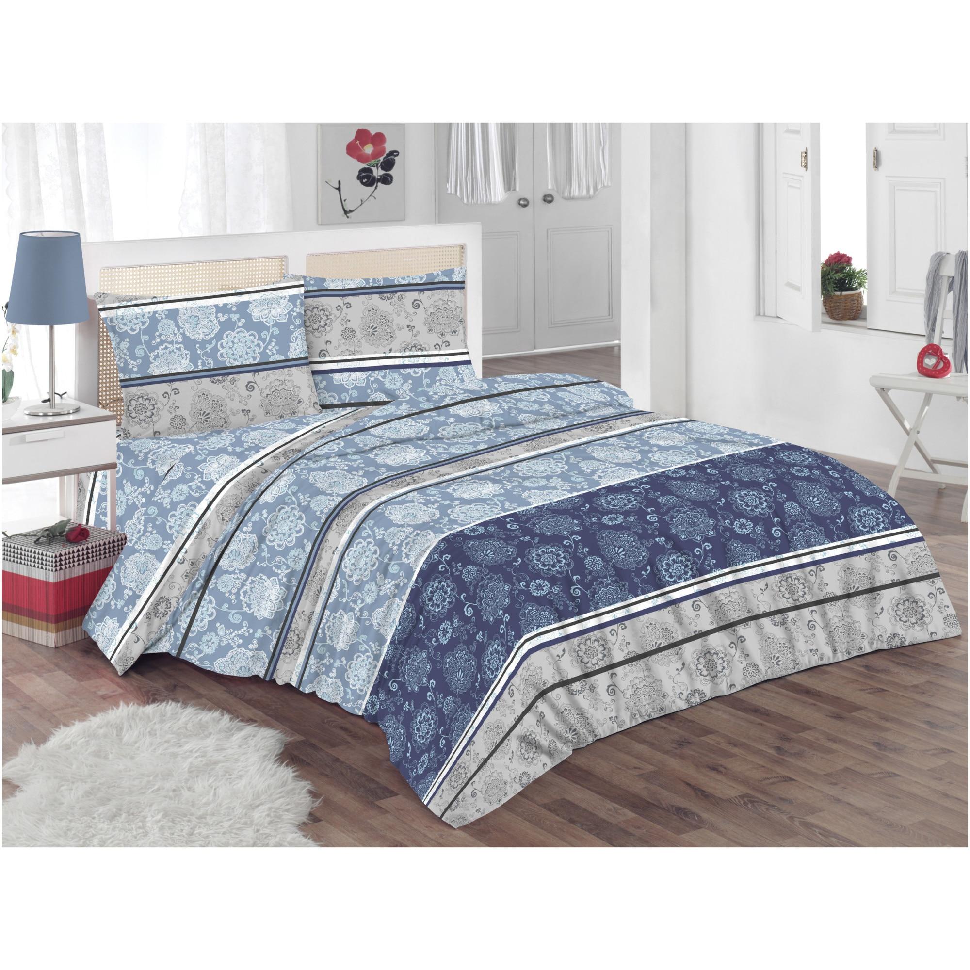 Lenjerie de pat pentru doua persoane Kring Azur