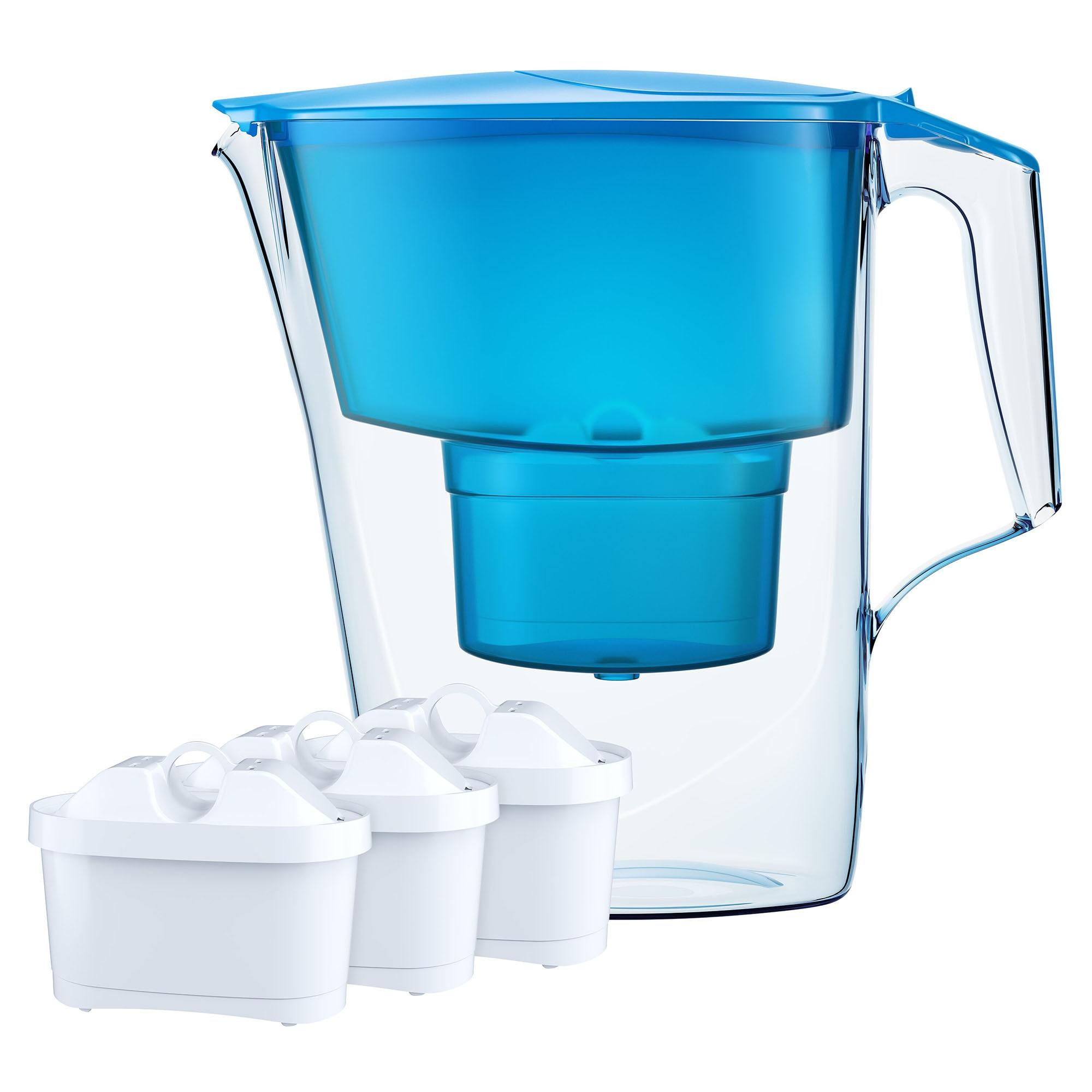 Cana filtranta cu 3 cartuse Maxfor Aquaphor, model Time Blue